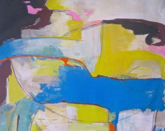 Getting There contemporary abstract expressionism painting on canvas