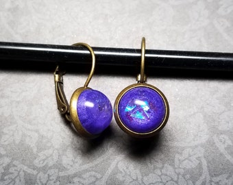 Purple Opal Earrings