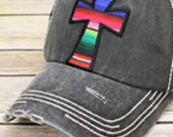 Vintage Cross Cap Distressed