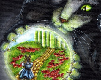 Wicked Witch of the West, Wizard of Oz Cats, 8x10 Art Print