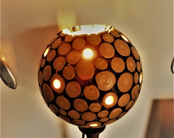 BAMBOO LAMPSHADE / Bamboo ball lampshade / Recycled handmade lamp  / BAMBOO lamp / Bohemian lamp / Decorative lamp