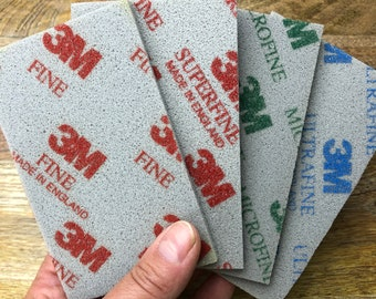 "Sanding sponge set, fine/superfine/microfine/ultrafine, 3M sanding pad, polishing pad, 2.75""x4.5"""