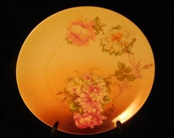 M & Z China Roses Display Plate     p259