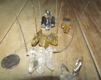 Freequency's Mix & Match Crystal, Silver and Gold - Your Choice of 2 - 1 Necklace and 1 Ring - 24.00 bucks