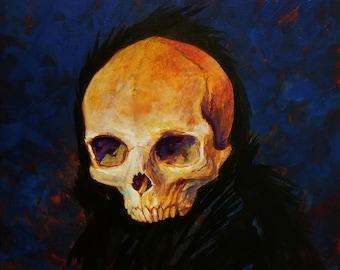 Original Skelecrow Painting - Hindsight