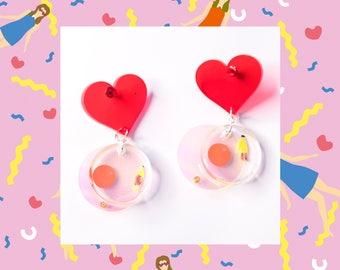 Lovers-handmade drop earrings