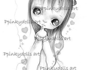 INSTANT DOWNLOAD Digital Digi Stamps..by Chrishanthi's art,Coucou'