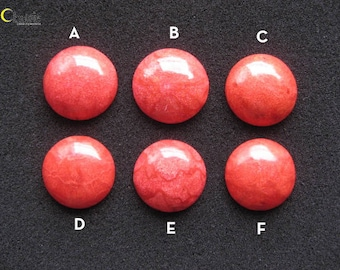 Natural Red Sponge Coral Round Cabochon 28-29mm (choose 1 pc)