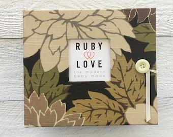 BABY BOOK | Muted Garden Floral Album