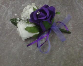 wedding buttoniere packsge 30 buttonholes ,3 double buttonholes ,2 mother of the bride corsage
