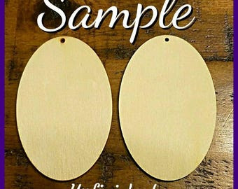 Oval shaped Wooden Earrings (3.15 in)- Design It Your Way (DIYW)- Natural Wooden Earrings- Natural Wood Earrings-Oval Natural Earring-Qty :1