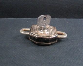 antique padlock with key made in Italy