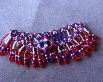 Red, White and Blue Anklet