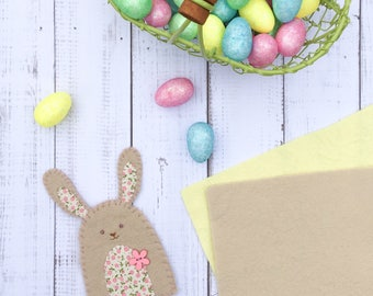 Sew Your Own Kit, Pair of Easter Egg Cosies, Easter Bunny, Easter Bunny Egg Cosy, Craft Kit / Easter Activity / Sewing Kit / Pair of Cosies