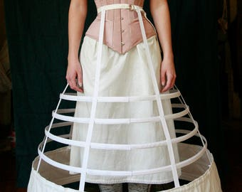 Elliptical Cage Crinoline, Victorian Hoop skirt, 1860s, Civil War Era
