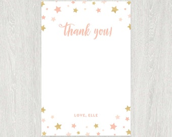 Twinkle Twinkle Thank You Card | 4x6 Flat | Digital Printable File