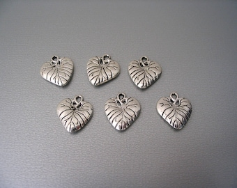 Charms leafs silver plated lot of 6