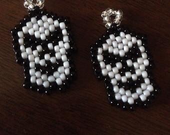 Skeleton Beaded Earrings