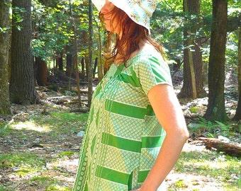 short sleeve smock dress -- made to order