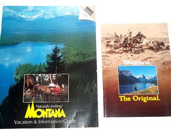 Two Vintage Montana Travel Brochures from 1981-1982