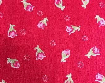 Half yard // LECIEN - Flower Sugar / Floral Collection-30971 color 30- Red background