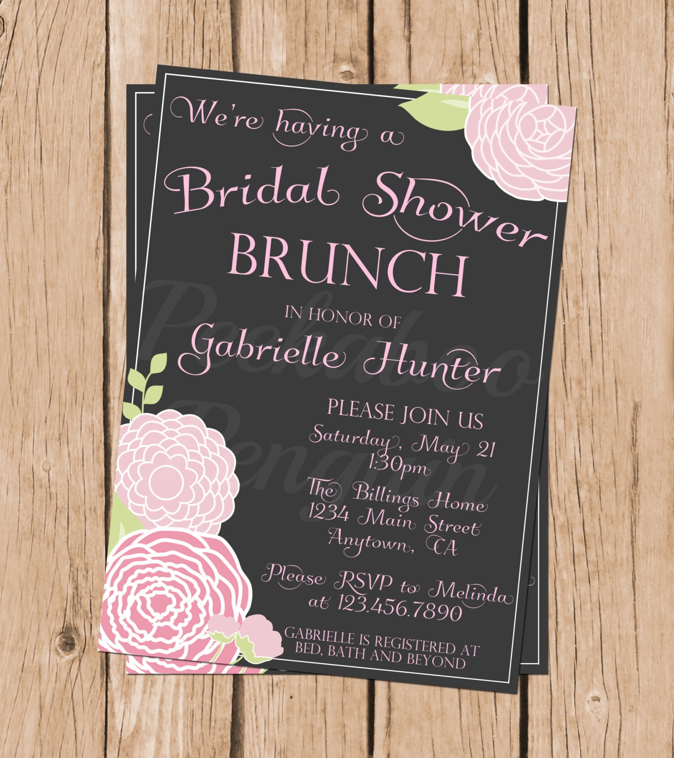 Bridal Shower Brunch Invitations Vintage Bridal Shower
