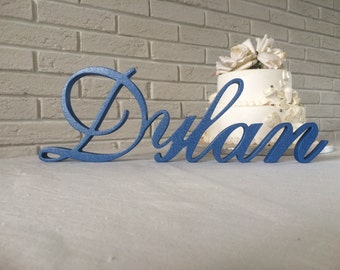 Personalized candelabra for a Bar or Bat Mitzvah candle lighting ceremony name sign. Kids name sign. Name sign party
