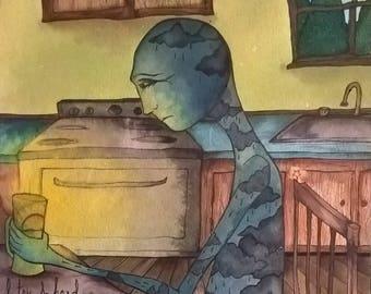 Cup of Sunshine - Original Watercolor Print