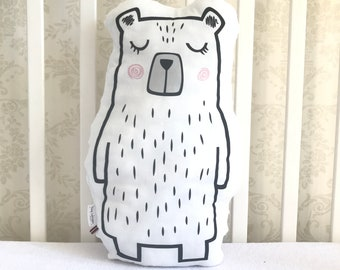 Bear plushie pillow
