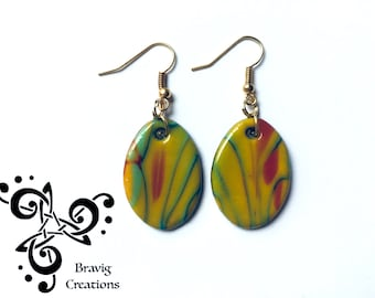 Arlequin earring Modeling clay