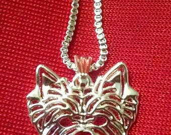 Lovely 3D Yorkie, Yorkshire Terrier, Westie Necklace