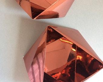 Paper Bowl Ornament || Copper Medium