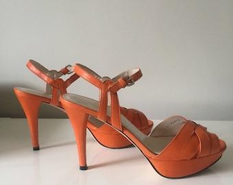 Stuart Weitzman Orange Sandals