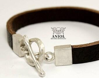 100% Sterling Silver Bracelet - Mens Bracelet - Rocker Jewelry
