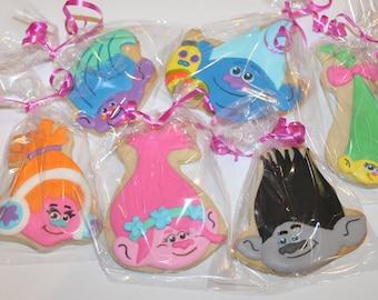 Trolls cookies (12 cookies)
