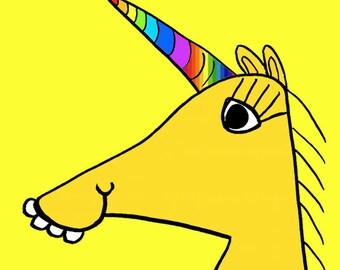 cute unicorn  Art Print by Giraffes and Robots