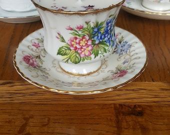 Vintage bone china tea cup and saucer candles