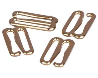 Gold Metal Alloy Hooks - 3/8 inch or 10mm (M910GO)