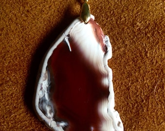 Red Freeform Agate Necklace