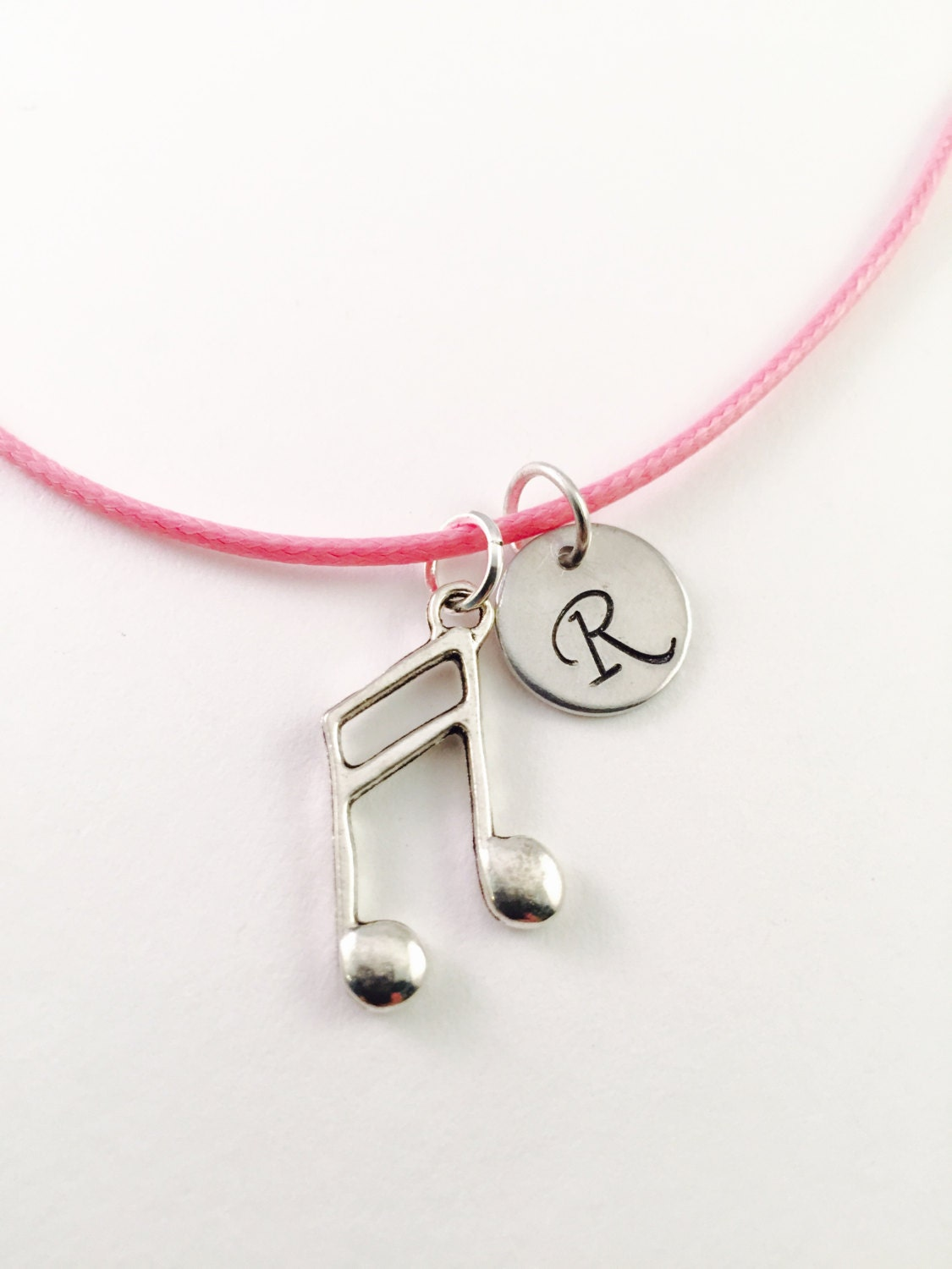 Music note necklace girls charm necklace Vocalist charm