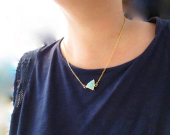 Raw Rough Turquoise Necklace