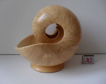 Sculpture Nautilus Wooden Shell  - 7BM