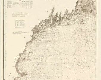 Penobscot Bay and Approaches 2014 Maine Nautical Map Camden