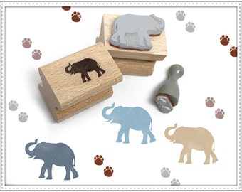 Rubber stamp set ELEPHANT & TRACKS