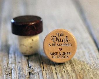 BEST PRICE ** Lot of Personalized Custom Wine Stopper Laser Engraved Cork Bottle Topper Reusable Rustic Wedding Favor --WS-L-BeMarried