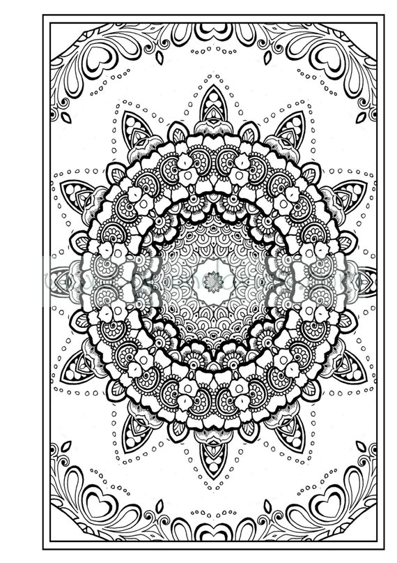 Adult Colouring In Pdf Download Zen Mandalas Garden Anti
