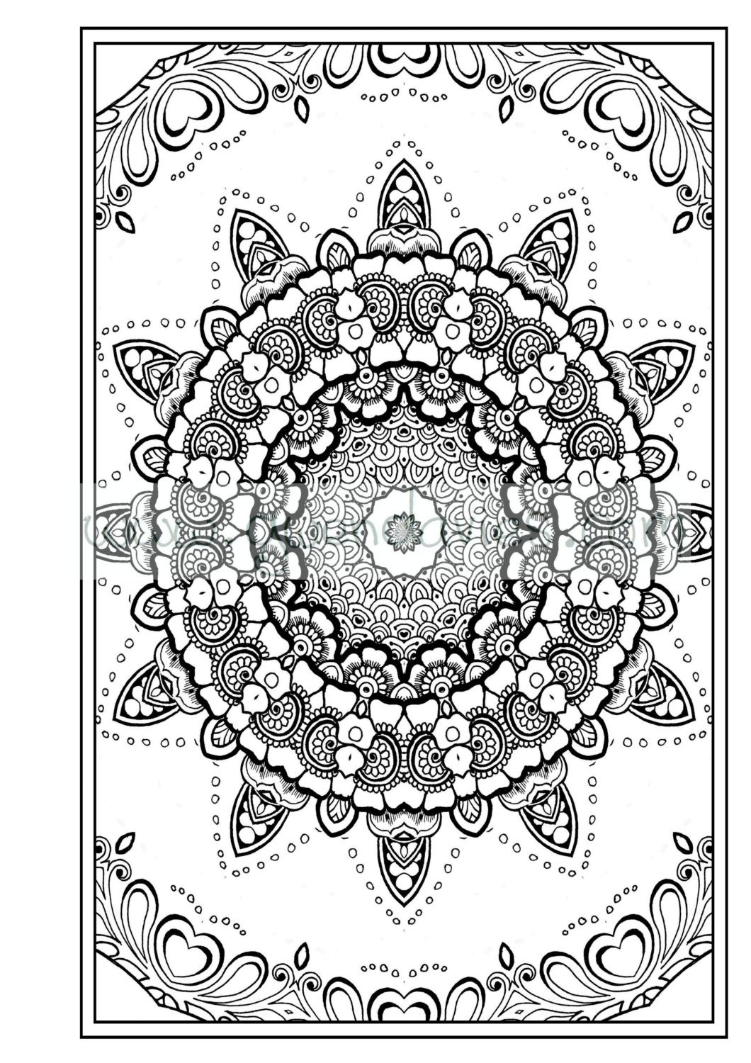 Adult colouring in pdf download zen mandalas garden anti for Coloring pages adults pdf