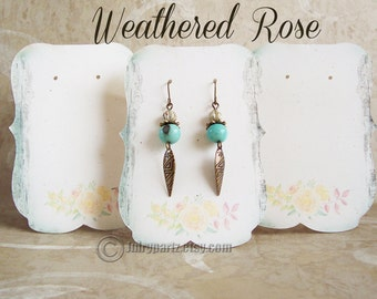 24•Weathered ROSE•Zoe•Earring Cards•Jewelry Cards•Necklace Card•Earring Display•Earring Holder•Necklace Holder