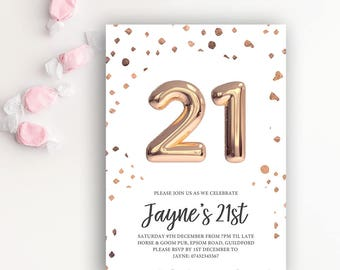 Birthday Invites Flamboyant Invites Wedding Event Stationery - 21st birthday invitation templates