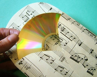 10 LOVESONG CD envelopes / DVD sleeves upcycled from vintage sheet music